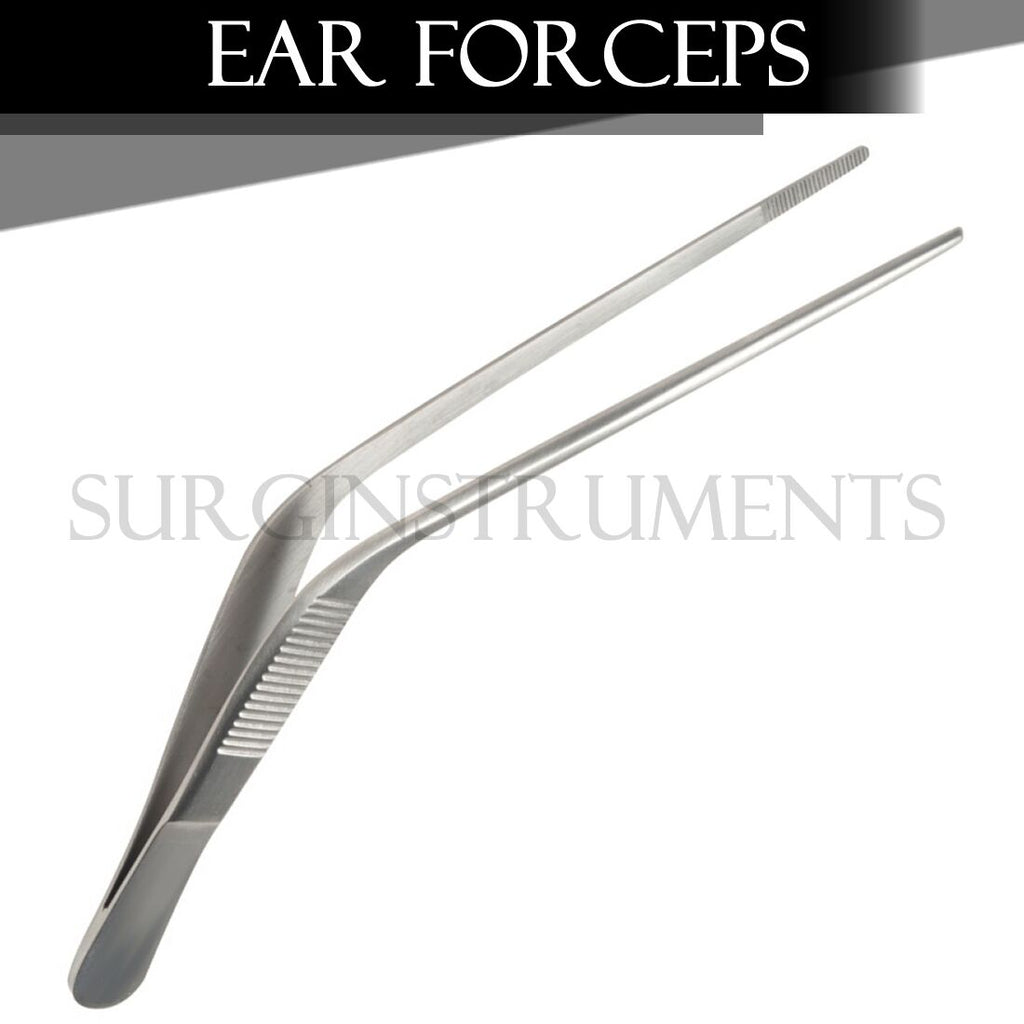 "Wilde Ear Forceps 5"" Angular with Serrated Tips Surgical Instruments"