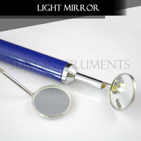 Dental Mirror with Light (Purple) Dental Instruments