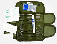 19 pc Tactical OD Green First Aid Surgical Kit Military Molle Pouch Complete Set