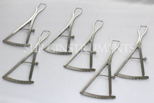 "6 Piece Set of Castroviejo Ridge Maping Caliper 6"" Implant Dental Surgical"