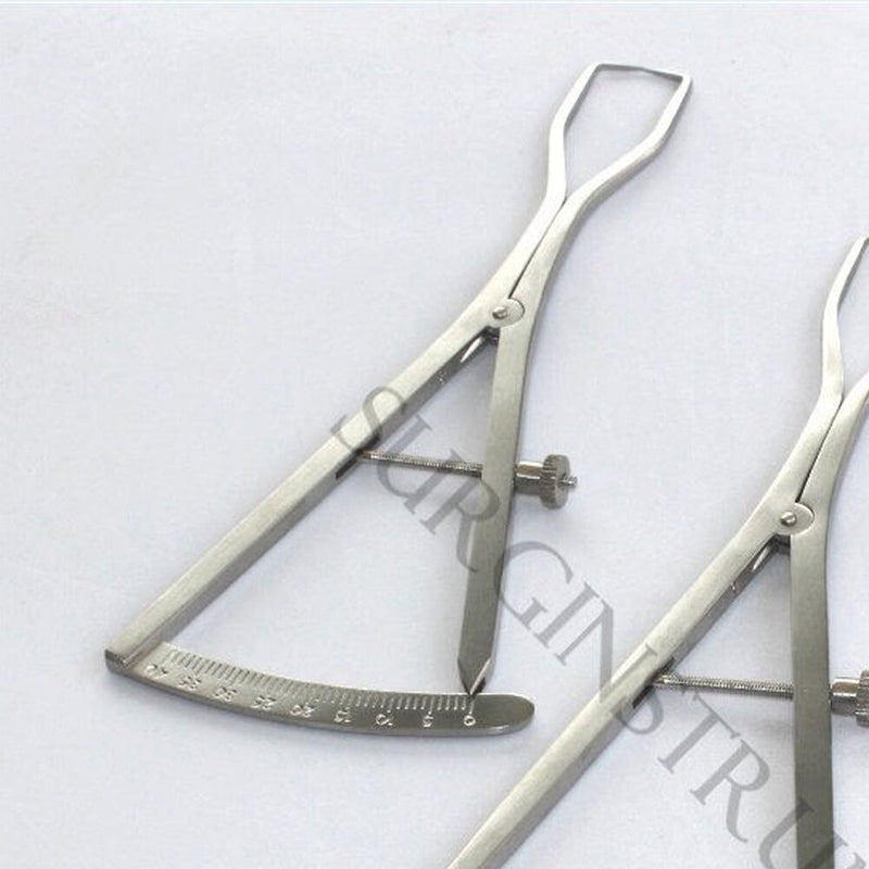 "3 Piece Set of Castroviejo Ridge Maping Caliper 6"" Implant Dental Surgical"