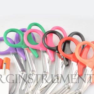 6 Colored Disposable Penlights With 6 Colored EMT Shears