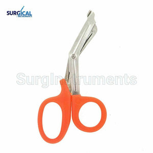 100 Orange EMT Shears (Scissors) Bandage Paramedic Ems Rescue Supplies 7.25""