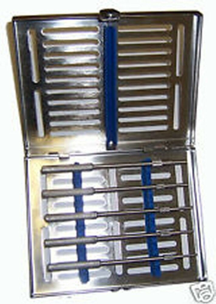 5 Sinus Osteotomes Concave Straight with Free Sterilization Cassette Dental