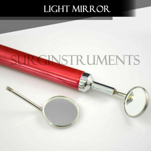 Dental Mirror with Light (Dark Red Color) Dental Instruments