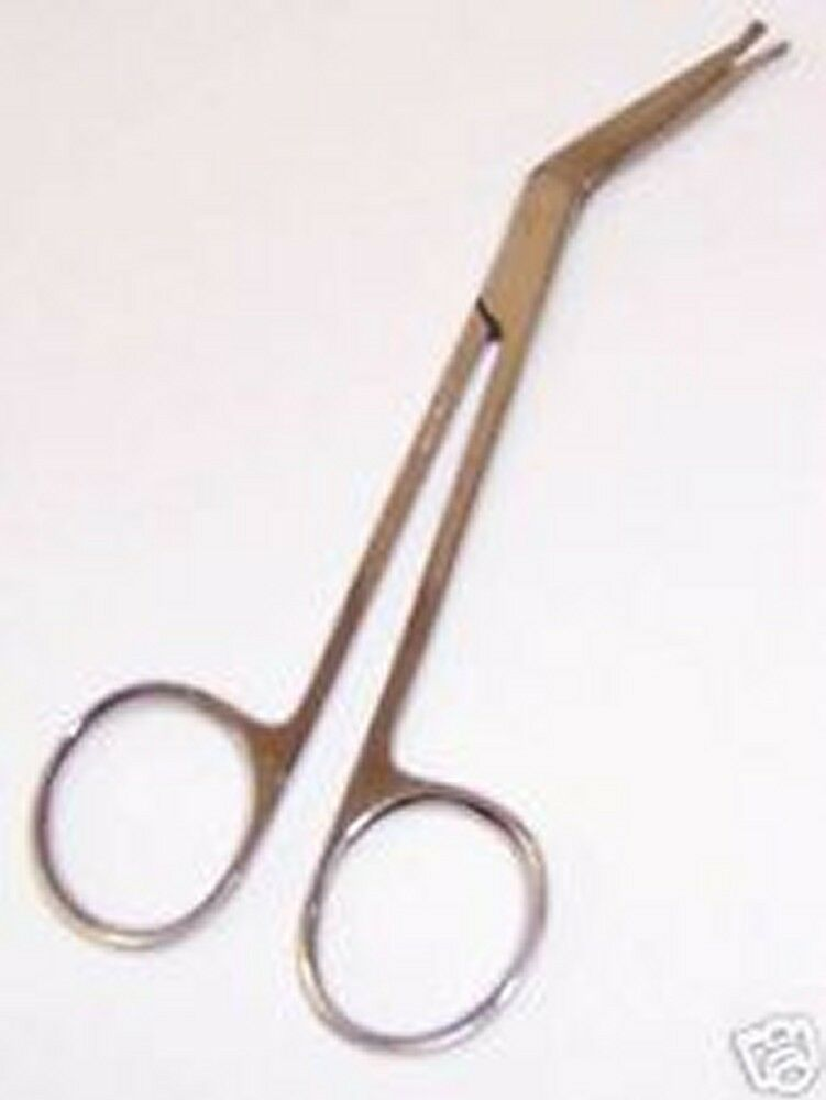 "12 Angular Safety Scissors 4.50"" Surgical Plastic Instruments 4.50"" 4.5"" 4.5"