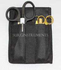 6 Piece GOLD Paramedic Set w/ Black Shears Diagnostic EMT Nursing EMS Emergency