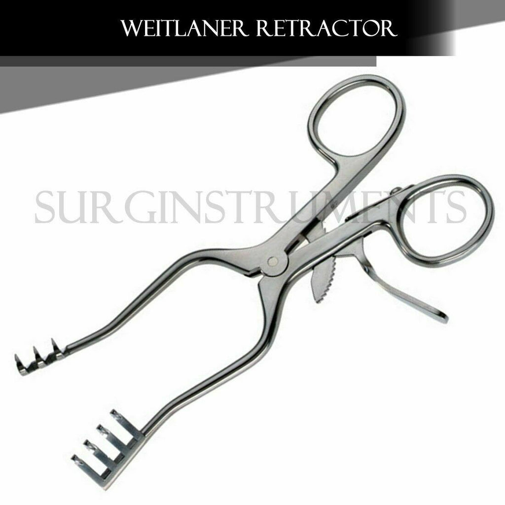 "Weitlaner Retractor 4.5"" 2x3 Prong BLUNT"