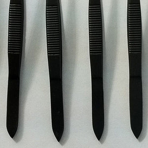 12 Black Color Splinter Forceps Surgical Nurses Paramedic First Aid EMS EMT 4.5""