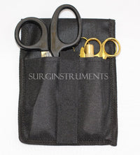 5 Piece GOLD Paramedic Set w/ Black Shears Diagnostic EMT Nursing EMS Emergency