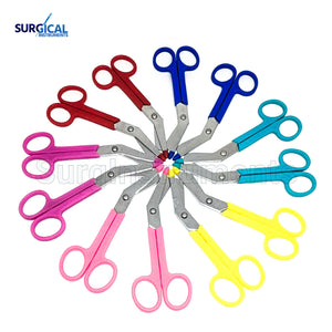 96 pcs Plastic Handle Colored Bandage Scissors Scrub Nurse Holiday Gift Idea