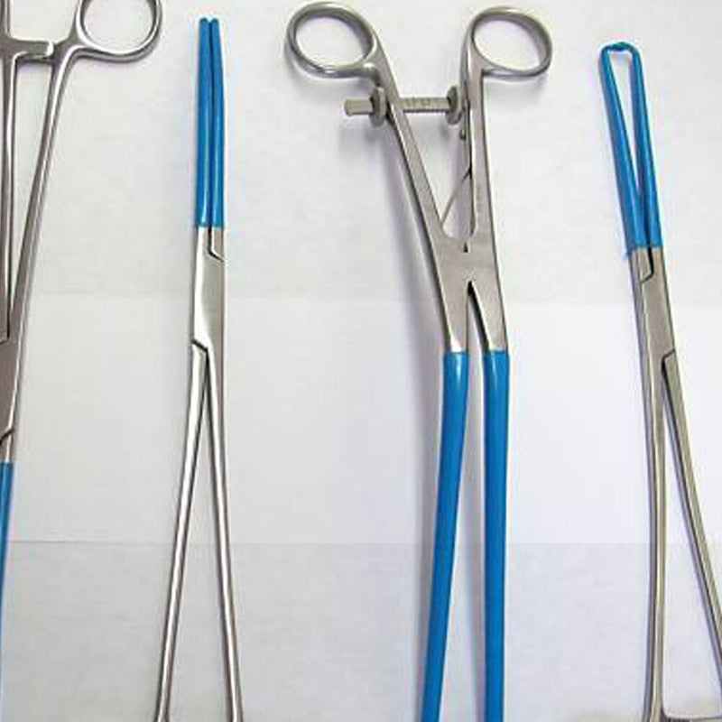 4 Blue Coated Gynecology Electrosurgical Instruments