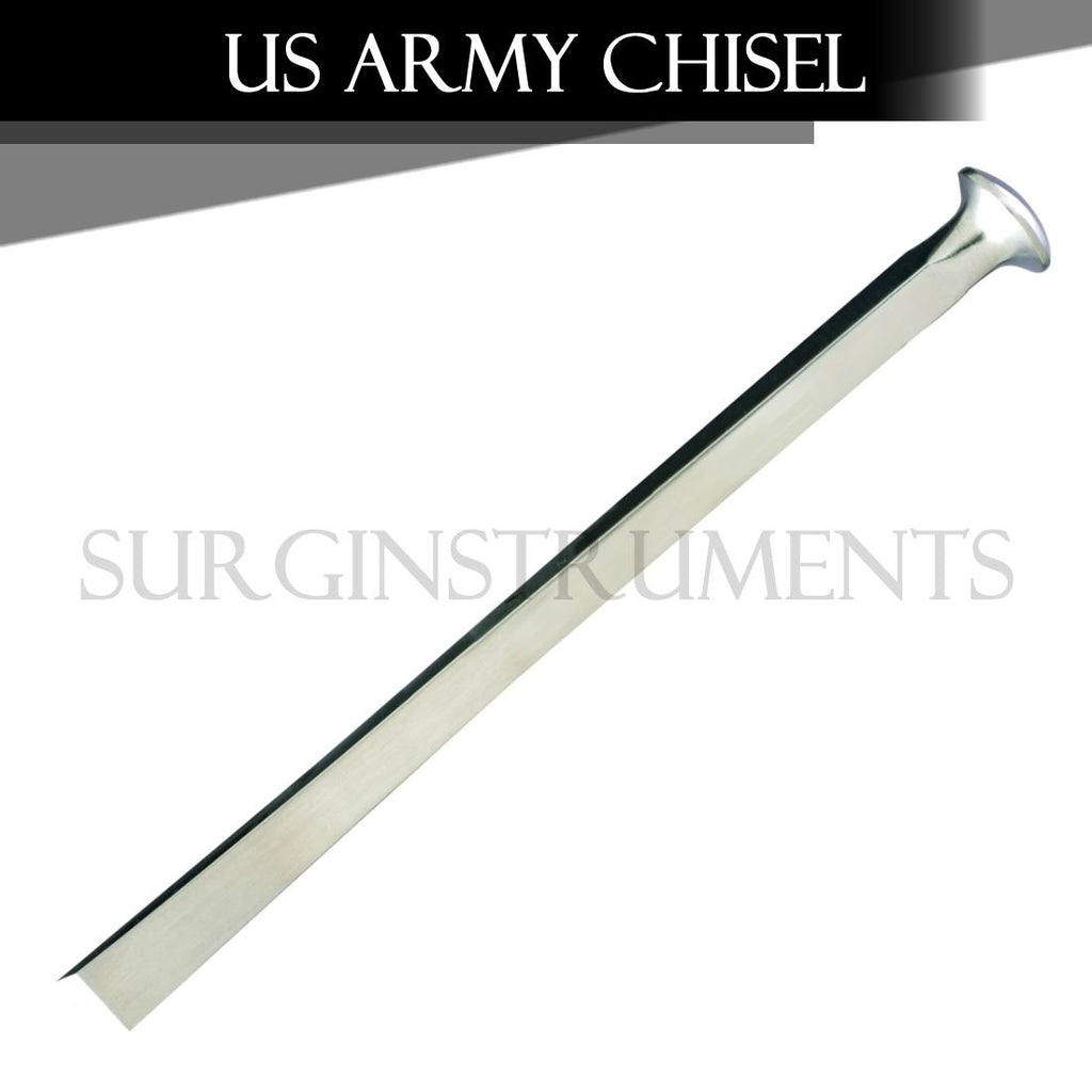 US Army Pattern Chisel Orthopedic Surgical Veterinary 12mm