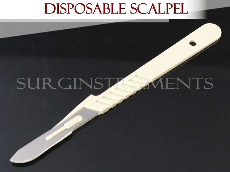 10 Disposable Scalpels #22 Surgical Dental Instruments
