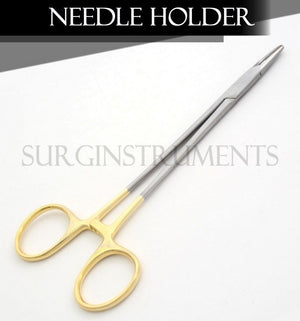 "10 T/C Mayo Hegar Needle Holder 7"" W/Tungsten Surgical Veterinary Instruments"