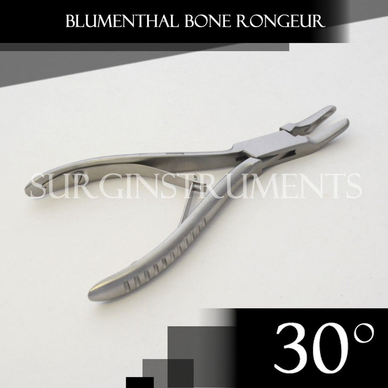 "1 Piece of Blumenthal Bone Rongeur 30 Degree 4.5"" Surgical Dental Instruments"