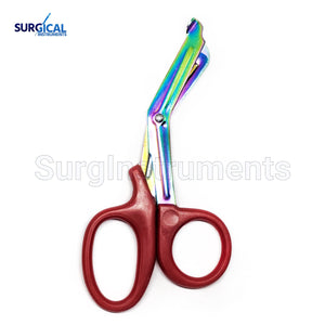 Red Heavy Duty Military style Trauma EMT/Paramedic Shears Multi Rainbow Color