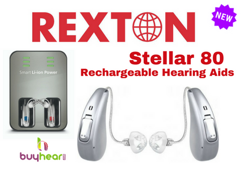 Pair - Rexton Stellar [6c] 80 Rechargeable w/ Charger Base