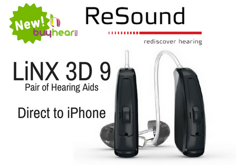 Pair - ReSound LiNX 3D 9 (direct to iPhone)