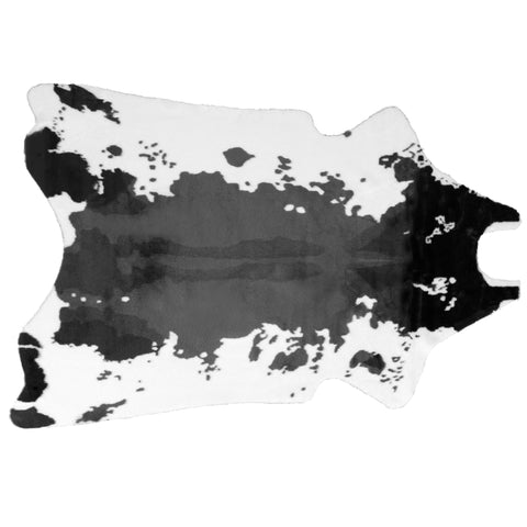 Alecia Faux Cowhide Black And White Area Rug 68 Inch By 50 Inch