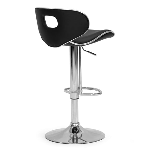 Astonishing Adria Black Pu Leather Chrome Frame Adjustable Height Swivel Bar Stool Set Of 2 Gmtry Best Dining Table And Chair Ideas Images Gmtryco