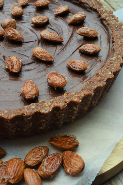 Chocolate & Salted caramel tart
