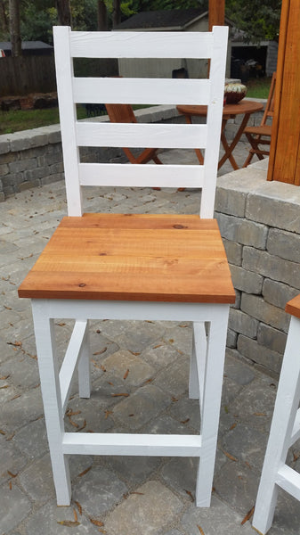 DIY bar stool, bar stool plans, pub stool, cedar bar stool, outdoor bar stool, DIY patio furniture