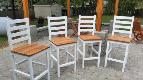 DIY bar stools, bar chairs, pub stools, bar stool plans