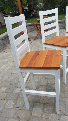 Cedar bar stool, outdoor pub chair, cedar patio furniture, DIY pub chair
