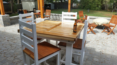 Pub Table plans, DIY pub Table, cedar pub table, outdoor pub table