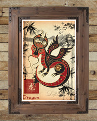 chinese zodiac art, chinese zodiac dragon, asian dragon art, asian wall art, japanese wall art