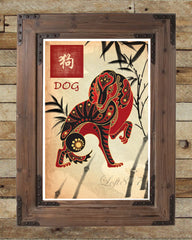 Chinese zodiac art, asian art, japanese art, asian wall art, sumi-e art