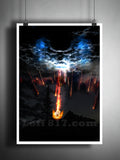Falling angels art, Supernatural art print, falling angels, The angels are falling art print -  - 2