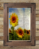 Sunflowers art, Sunflower art print, Sunflower wall art -  - 2