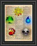 Magic the Gathering art, magic the gathering symbol art, Geeky art print