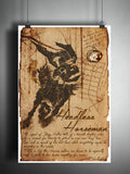 Headless Horseman, Legend of Sleepy Hollow folklore, legends, creepy horror artwork, myths and monsters bestiary,
