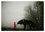 Red riding hood art, Brothers Grimm art, series of 3 prints -  - 2