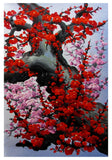 Cherry blossom wall art, Japan cherry blossom art, red cherry blossom painting -  - 4