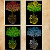 Celtic Tree of Life art, Celtic Tree art, four seasons artwork, boho wall art