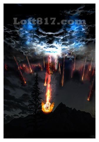 Falling angels art, Supernatural art print, falling angels, The angels are falling art print -  - 1