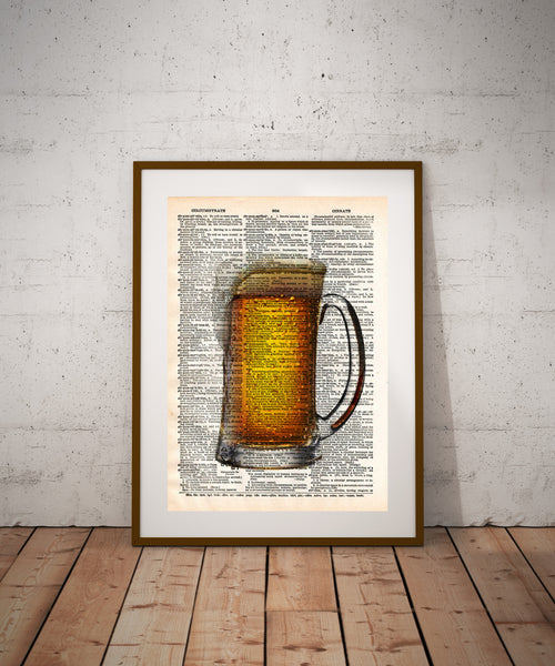 Frosty pint, beer pint art, mancave wall art, gift for beer lover, beer sign -  - 1
