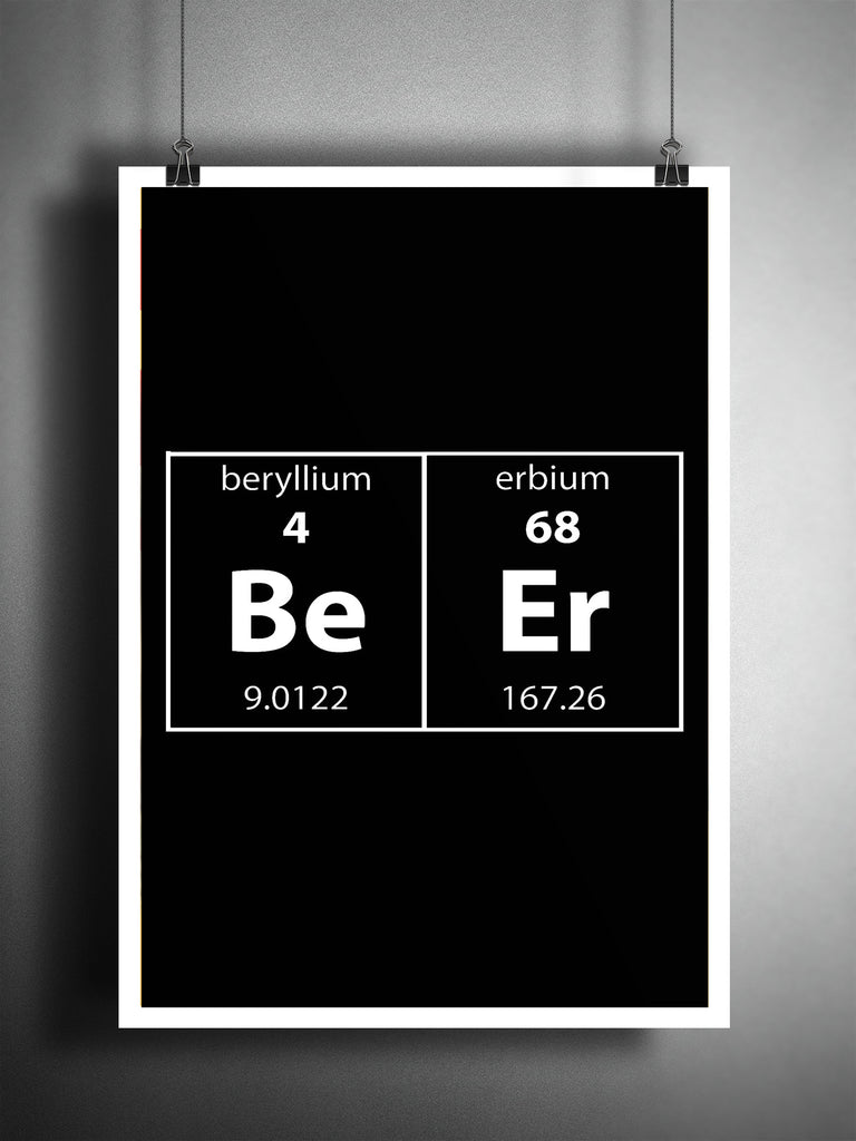 Man Cave Gag Gifts : Periodic table art beer wall funny nerdy
