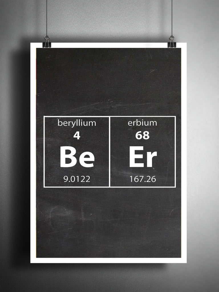 periodic table art beer wall art funny nerdy art beer gift mancave loft 817. Black Bedroom Furniture Sets. Home Design Ideas