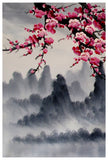 Cherry blossom art print, cherry blossom wall mural, cherry blossom japanese art set -  - 2