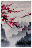 Cherry blossom art print, cherry blossom wall mural, cherry blossom japanese art set -  - 3