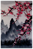 Cherry blossom art print, cherry blossom wall mural, cherry blossom japanese art set -  - 4
