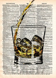 Whiskey splash art, pour yourself some whiskey, man cave art, bourbon splash art -  - 2