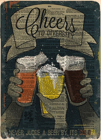 Beer art, bar artwork, bar decor Beer diversity, beer lover art -  - 1