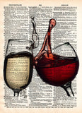 Wine splash art, red and white wine, wedding toast art, wine lovers art -  - 2