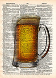 Frosty pint, beer pint art, mancave wall art, gift for beer lover, beer sign -  - 2